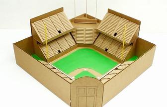 如何利用硬紙板制作棒球場模型
