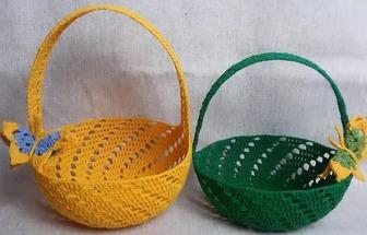 如何鉤織迷你手提籃的方法