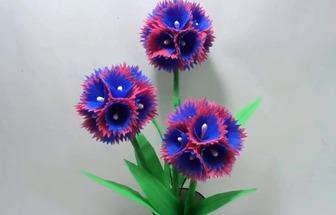 教你用購物布袋DIY漂亮的花束