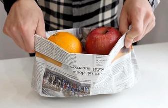 手工達人教你用報紙折收納袋