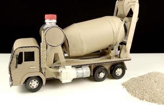如何制作纸板玩具搅拌车