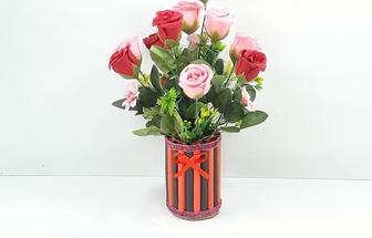 舊手鐲圈DIY手工藝花瓶