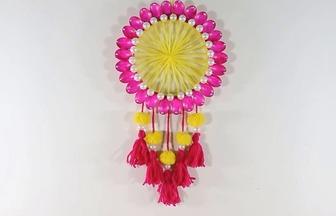 一次性勺子手工制作漂亮墻掛裝飾