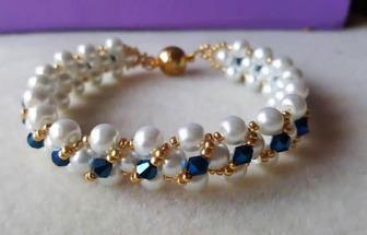 DIY時尚珍珠水晶手鏈的穿制方法