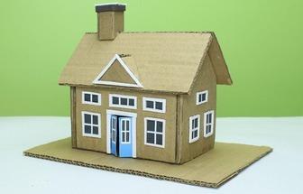 教你用廢舊紙板做迷你小房子