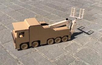手工紙板教程:如何制作玩具牽引車