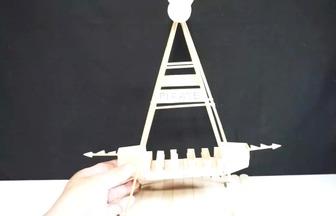 冰棍棒設計海盜船模型