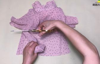 舊衣服改造:DIY露背掛脖小禮服