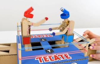 DIY好玩的雙人拳擊游戲機
