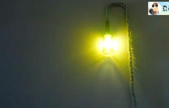 廢棄的酒瓶DIY創意裝飾吊燈