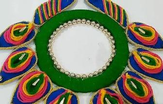 漂亮孔雀尾羽掛飾的制作方法