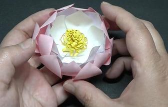 手工紙藝美麗蓮花的制作教學