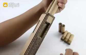 DIY紙板m37玩具槍
