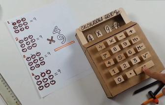 用紙板造出一個無源手工計算器