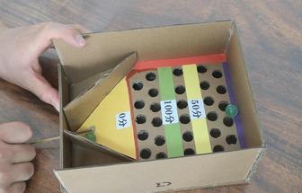 超有趣的DIY紙箱計分臺球玩具