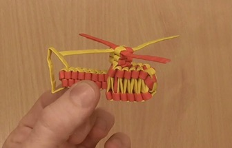 如何制作一架迷你紙編直升飛機