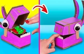利用神奇紙板變玩具的趣味技巧