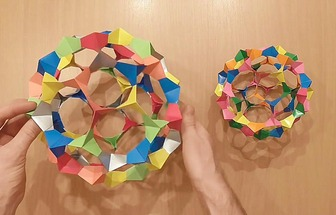 DIY折疊拼裝彩紙花球