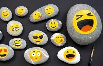 廢石頭DIY彩繪漂亮的裝飾品