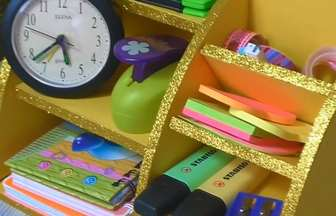 教你用廢舊紙板做漂亮的文具收納盒