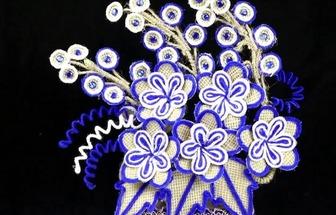 用麻繩和毛線DIY好看的花藝擺件