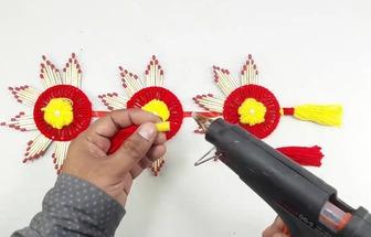 教你用火柴棒和毛線DIY好看的墻掛裝飾