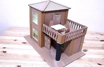 如何用紙板蓋一棟二層小樓
