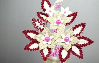 用麻繩和塑料瓶DIY好看的花藝