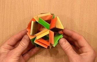 手工折紙簡單花球的方法