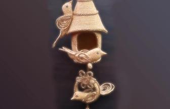 用塑料瓶和麻繩DIY有趣的鳥籠掛件
