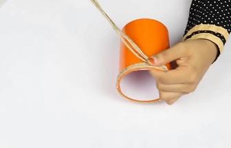 教你用塑料杯和麻繩DIY有趣的儲物盒