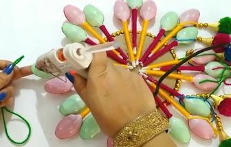 教你用毛線球DIY簡單的壁掛