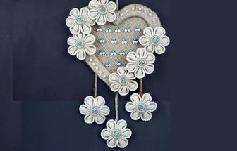用紙板和麻繩DIY浪漫的愛心壁掛