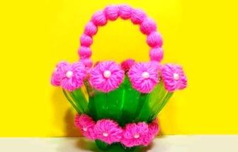 幼兒園手工:DIY漂亮的小花籃