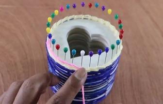 DIY一個漂亮的愛心筆筒盒