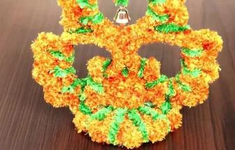 用塑料瓶和毛線團DIY好看的花藝裝飾