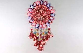 一次性勺子DIY大方漂亮的墻壁裝飾