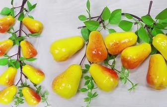 用塑料泡沫DIY漂亮的黃金水果梨