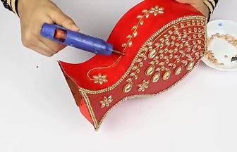 使用硬紙板做個高貴大氣的花瓶擺件