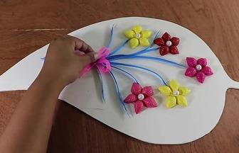 使用貝殼粉DIY充滿創意的裝飾畫