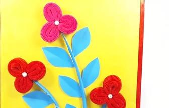 自己做一副特別簡潔的小花裝飾畫