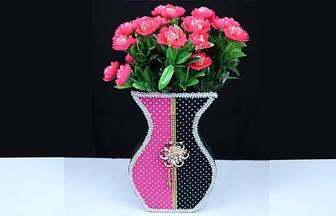 怎么用紙板DIY好看的紙藝花瓶