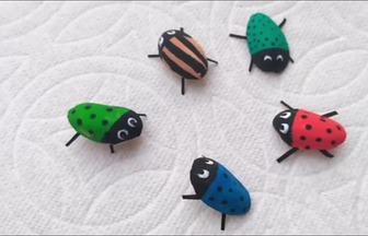 開心果殼DIY有趣的瓢蟲裝飾物