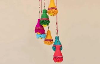 廢塑料瓶DIY漂亮的風鈴掛飾