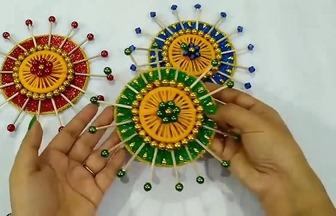 手工DIY簡單的墻掛裝飾圓盤