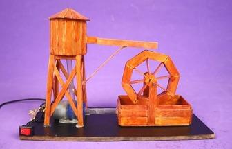 在家DIY迷你水輪車模型教學