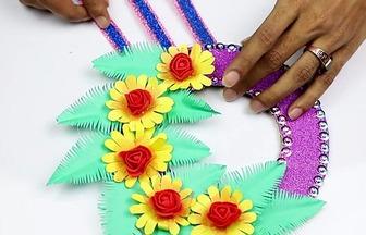 手工DIY:創意的彩紙掛件做法