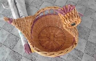 怎么用藤編做一個漂亮的天鵝花籃