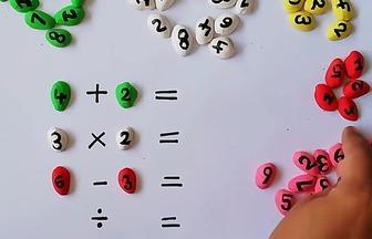 利用開心果殼做算術早教玩具