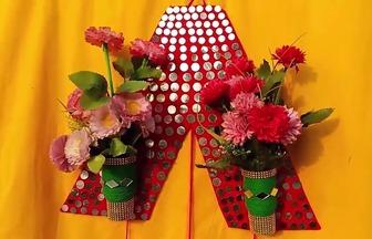 手工創意做個有趣的壁掛花瓶